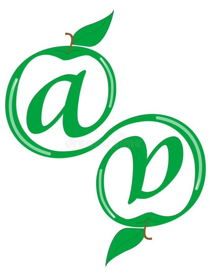 Symbool voor Internet stock afbeelding