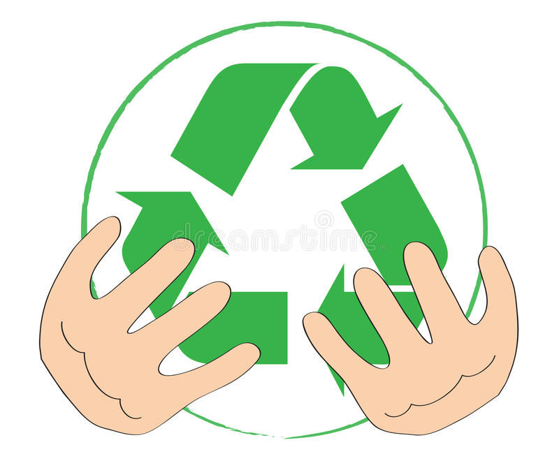 Symbool voor recycling stock illustratie
