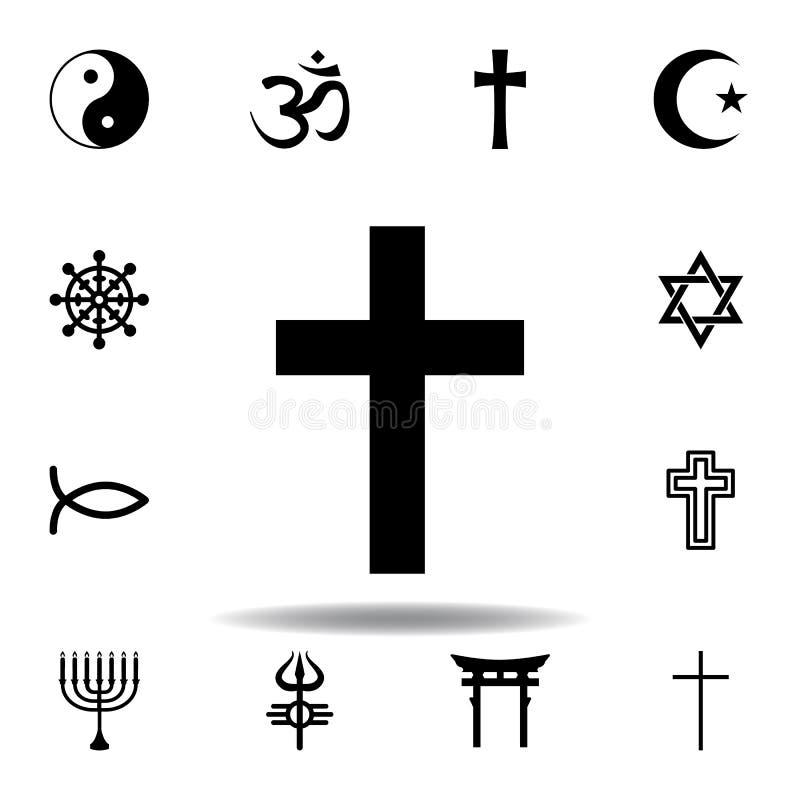 symbool voor religie, katholicisme Elementen van de illustratie van het godsdienstsymbool Het pictogram van tekens en symbolen ka royalty-vrije illustratie