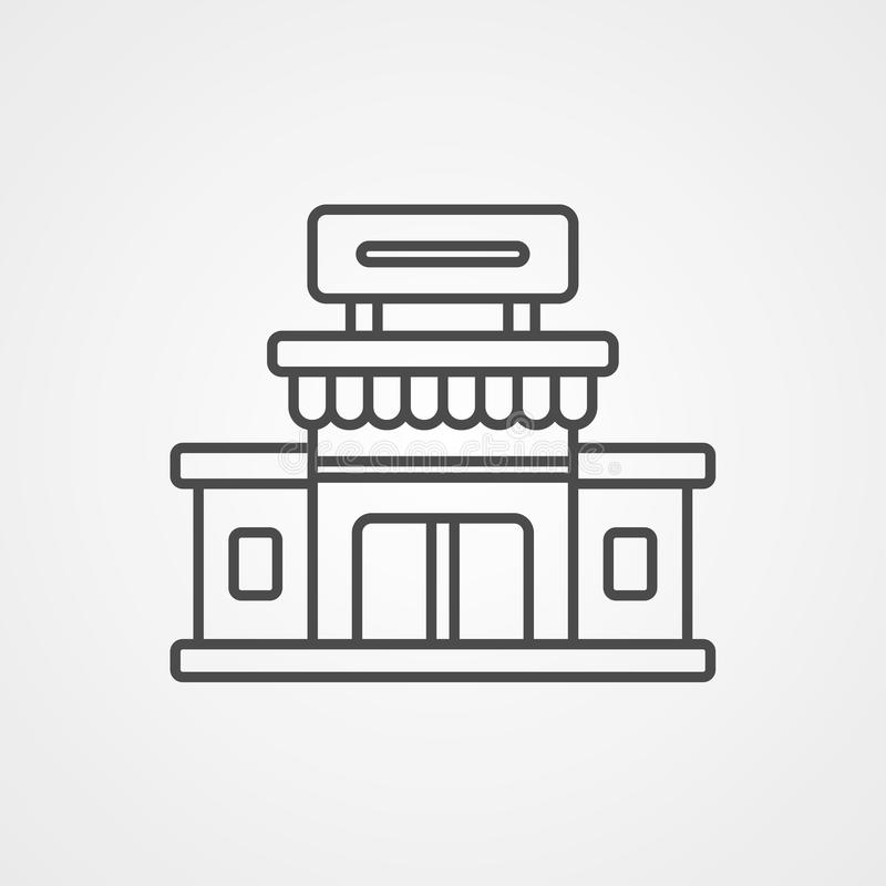 Symbool voor vectorpictogrammen aanschaffen stock illustratie