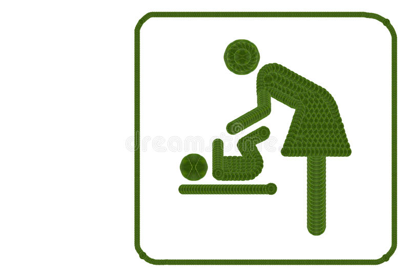Symbool voor vrouwen en baby stock foto's