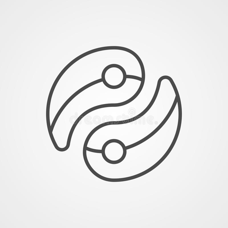 Symbool Ying Yang-pictogram vector illustratie