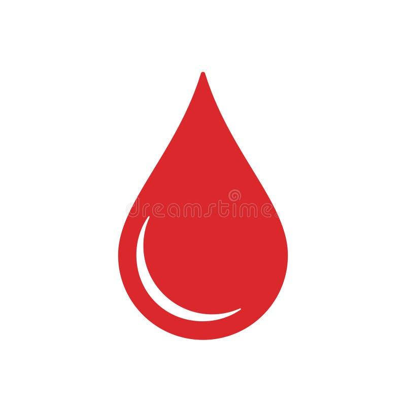 Symbooldonor Het rode pictogram van het dalingsbloed stock illustratie
