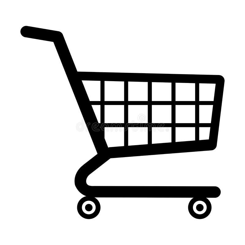Symboolillustratie van winkelwagentje stock illustratie