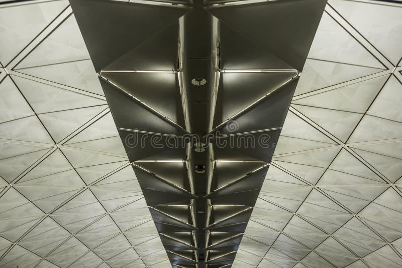 Symetryczna dachowa struktura z trójbokami fotografia royalty free