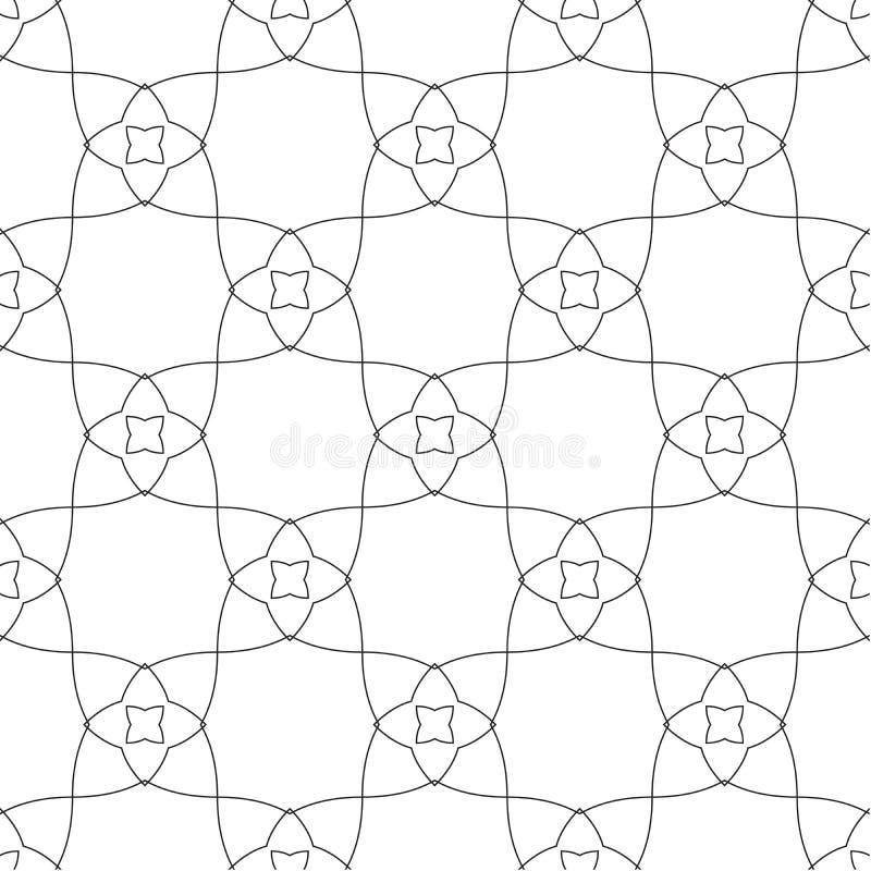 Symetryczni geometryczni kształty czarny i biały ilustracji