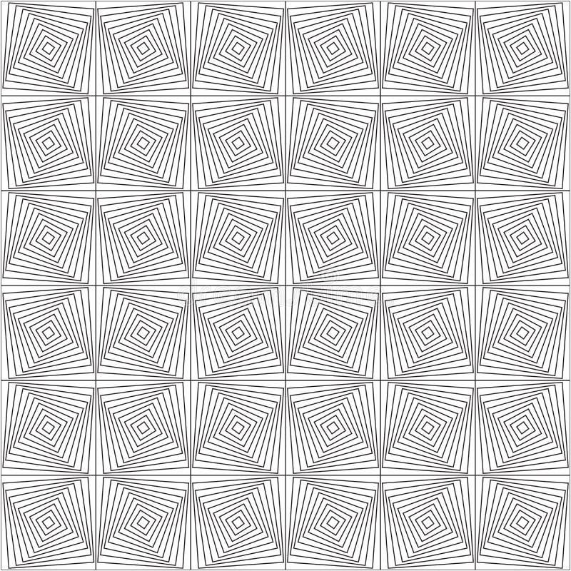 Symetryczni geometryczni kształty czarny i biały royalty ilustracja