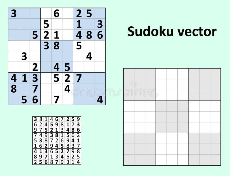 Symetryczny Sudoku pustego miejsca szablon ilustracji