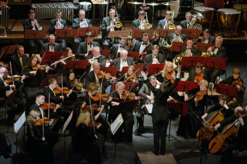 Symfonieorkest stock afbeeldingen