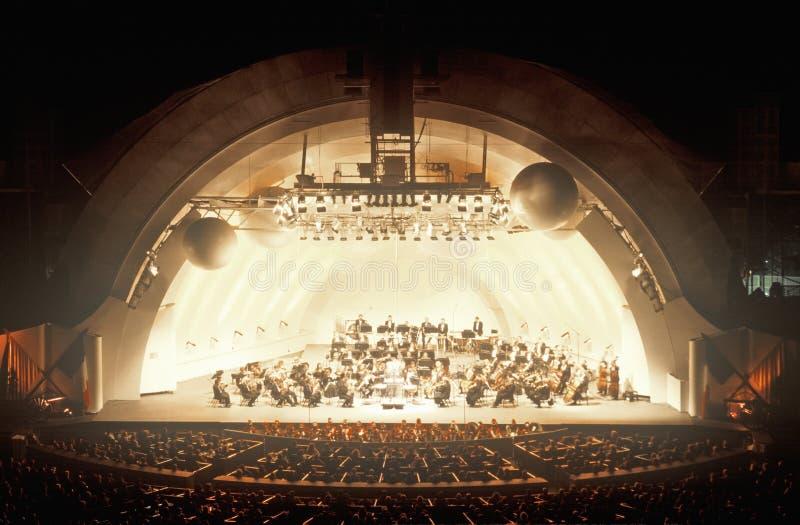 Symfoniespelen Tchaikovsky bij het Hollywood Bowl, Los Angeles, Californië royalty-vrije stock foto