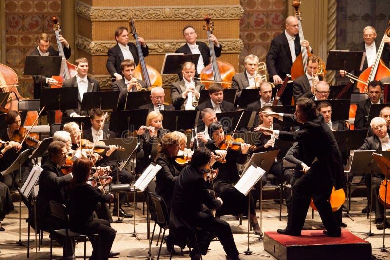 Symfoniorkester arkivbild