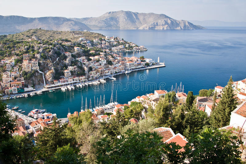 Symi, νησί Dodecanese, Ελλάδα στοκ εικόνα