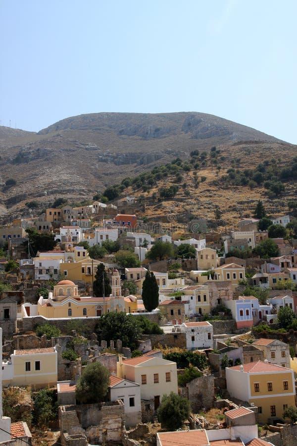 symi Греции стоковое изображение