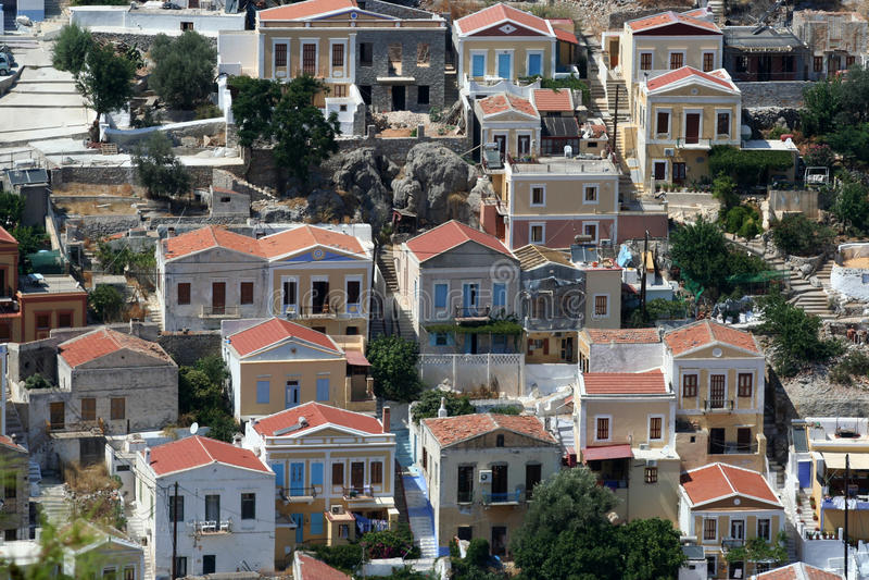 symi Греции стоковая фотография