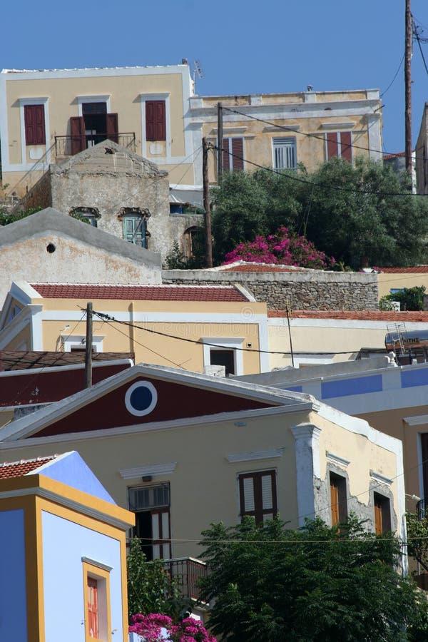 symi Греции стоковое изображение rf