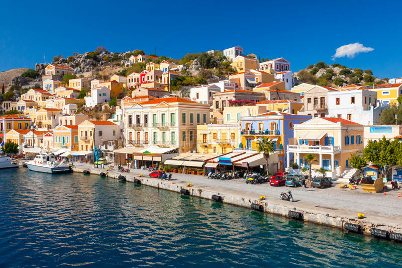 Symi Griechenland Europa stockfotos