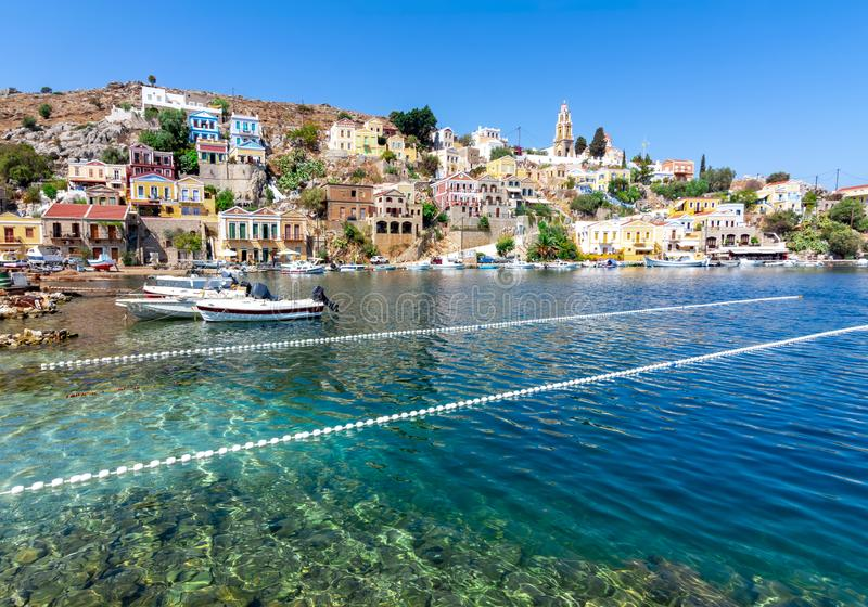 Symi town, Dodecanese islands, Greece royalty free stock photos