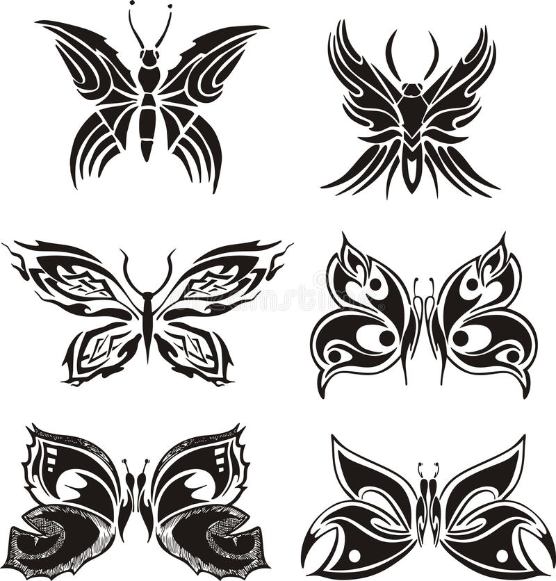 Download Symmetric Butterfly Tattoos Stock Vector - Illustration: 28065004
