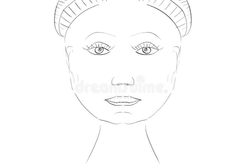 Symmetric Face royalty free illustration