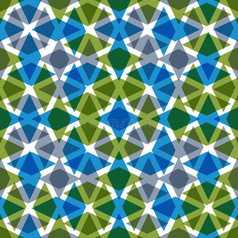 Symmetric przejrzysty dekoracyjny bezszwowy wzór royalty ilustracja