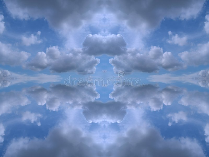 Symmetrical clouds kaleidoscope royalty free stock image