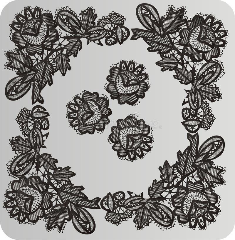 Download Symmetrical Decoration On Gray Stock Illustration - Illustration of ornate, curve: 5855900