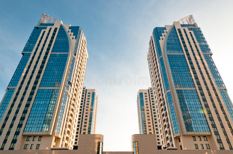 Symmetrical House Towers Royalty Free Stock Photography