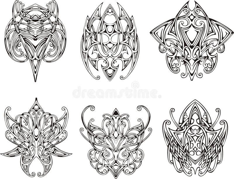 symmetrical knot tattoo designs stock illustration illustration of ornamental white 38923307. Black Bedroom Furniture Sets. Home Design Ideas