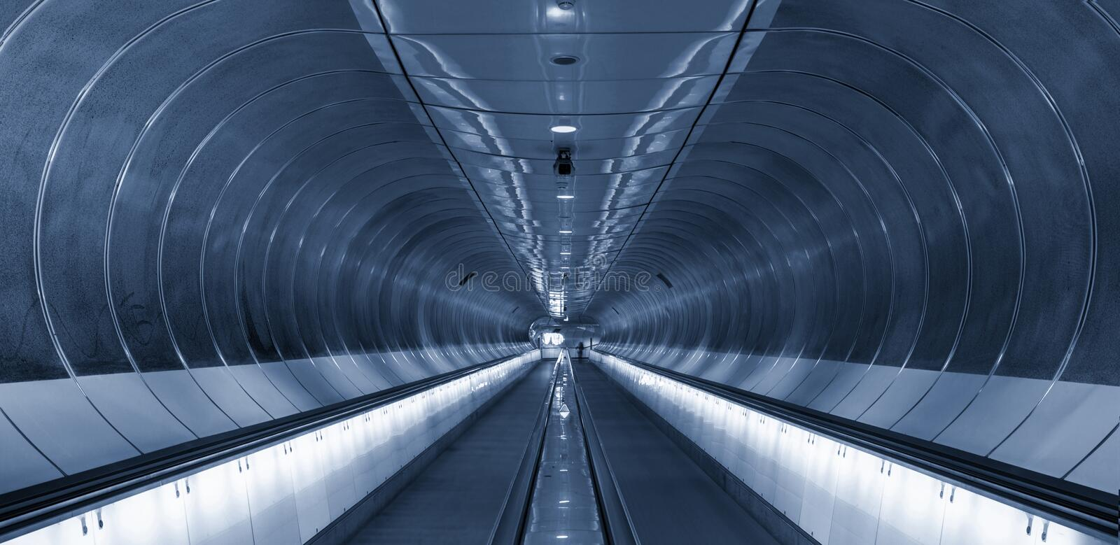 Download Symmetrical Rings In Subway Tunnel Rotterdam Stock Photo - Image: 15004272