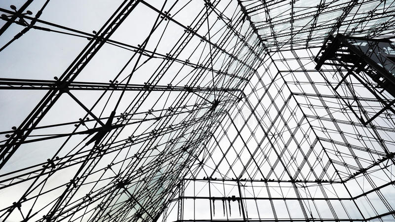 Symmetrical structure. Nice architectural Details royalty free stock photography
