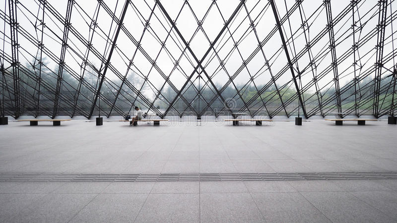 Symmetrical structure. Nice architectural Details royalty free stock images