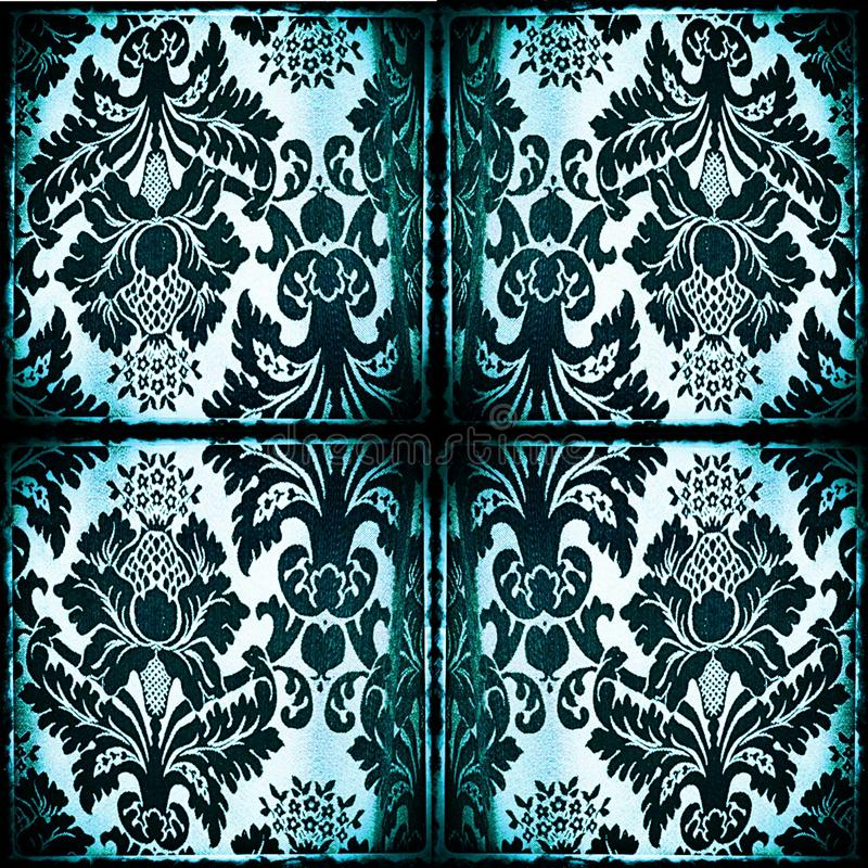Symmetrical tapestry fabric with burned edges