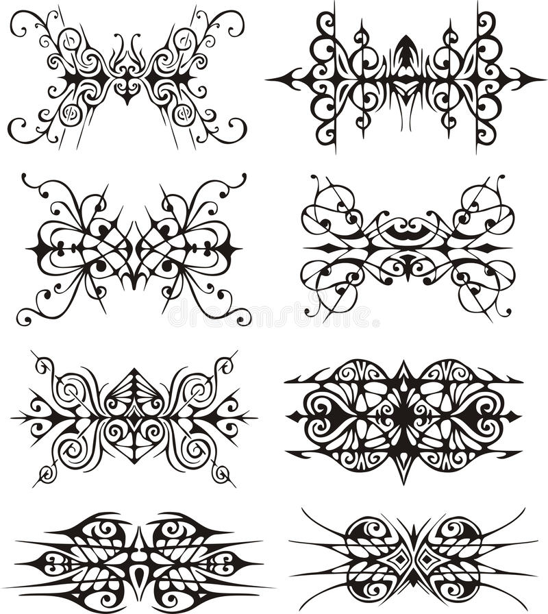 Download Symmetrical Tribal Vignettes Stock Vector - Image: 28144890