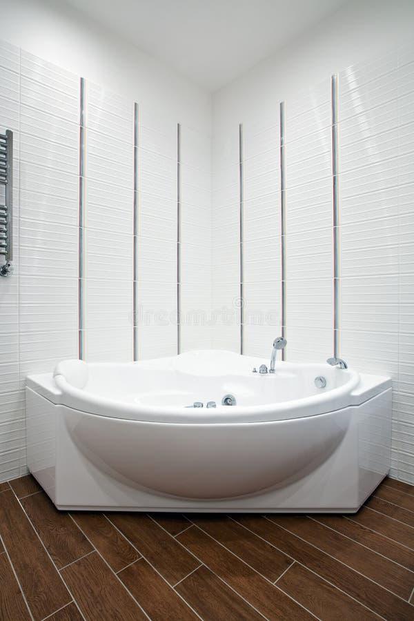 Symmetrical view of bathroom. Symmetrical view of modern bathroom interior royalty free stock image
