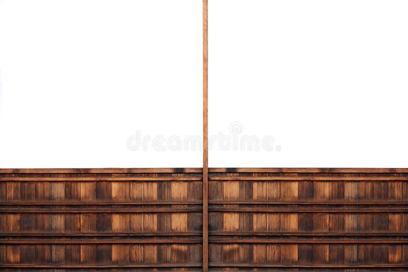 Symmetrical Wooden Billboard Royalty Free Stock Image