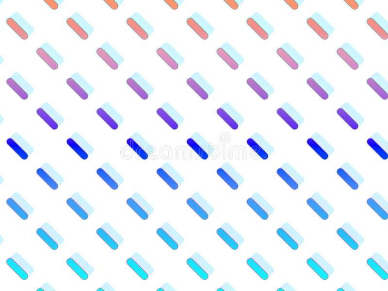 Symmetrically fördelade mångfärgade kapslar på vit bakgrund royaltyfri illustrationer