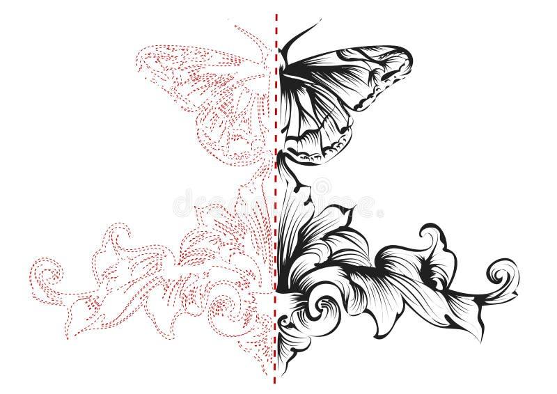 symmetrie stock illustratie