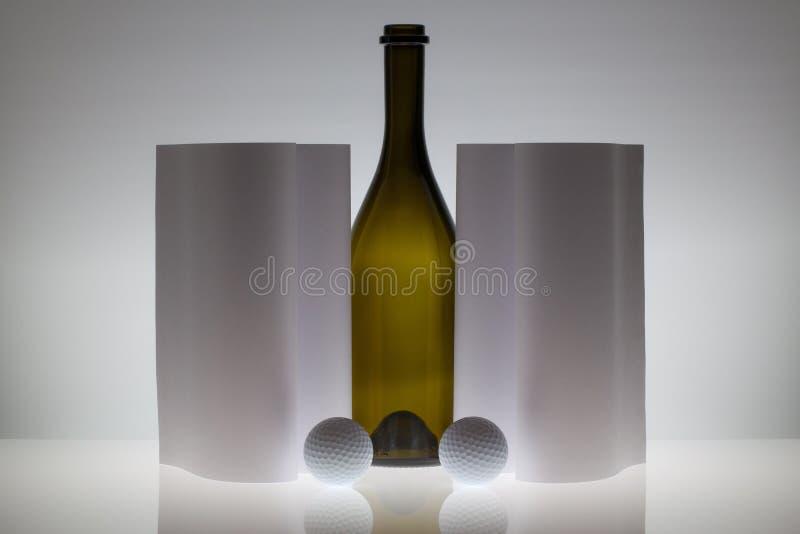 Symmetrie abstracte Document Achtergrond met glas en golfballen royalty-vrije stock foto
