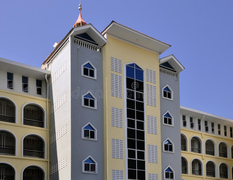 Symmetrie in de moderne bouw stock foto's