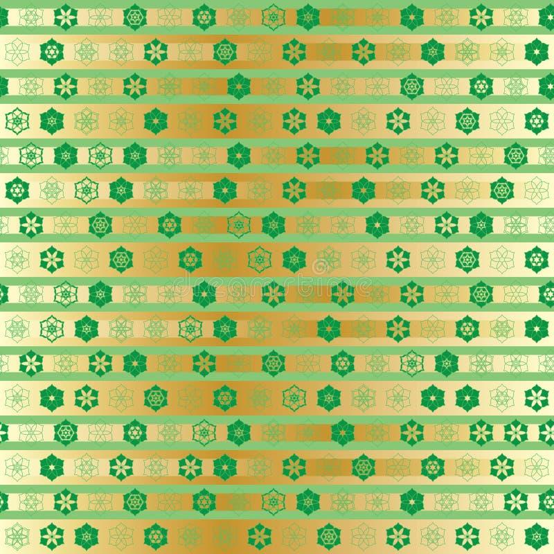 Symmetriestreifen-Goldnahtloses Muster Ramadan-Sternes kleines lizenzfreie abbildung