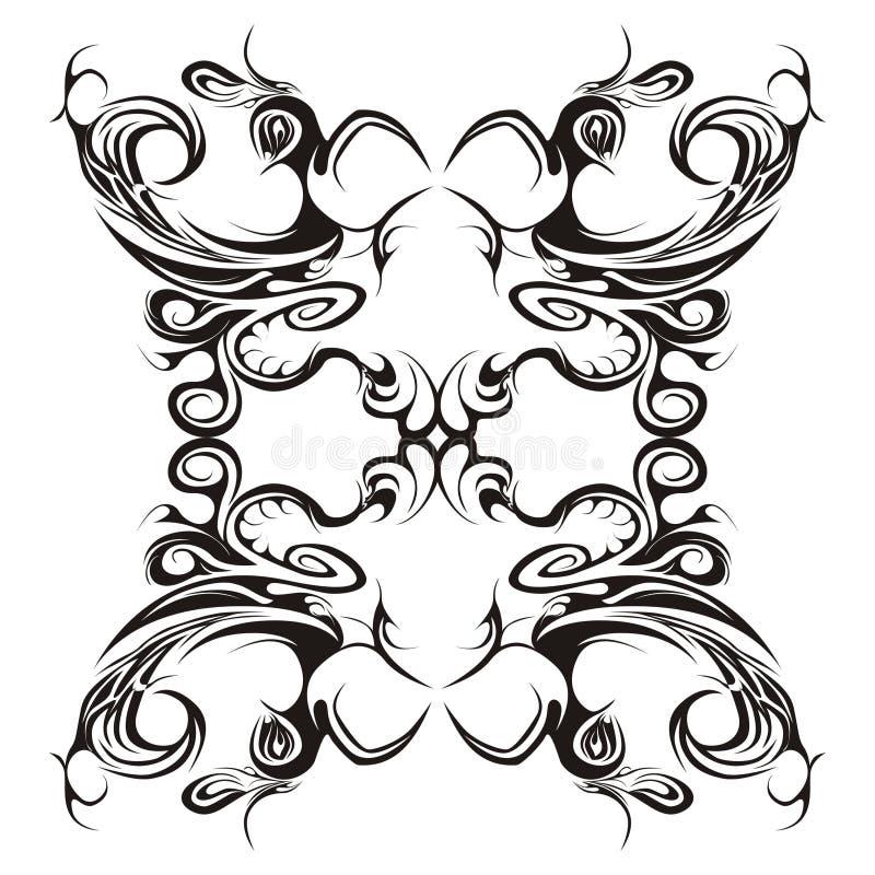 symmetrische blumenauslegung vektor abbildung illustration von kunstfertigkeit hintergrund. Black Bedroom Furniture Sets. Home Design Ideas