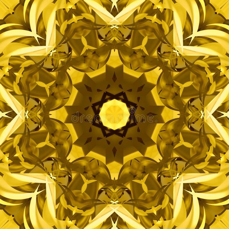 Symmetrische decoratieve patronen stock illustratie