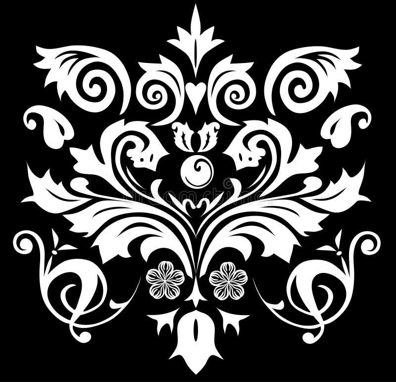 Symmetrische Musterweißfarbe lizenzfreie abbildung