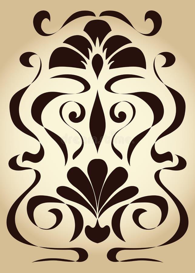 Symmetrische patroonjugendstil royalty-vrije illustratie