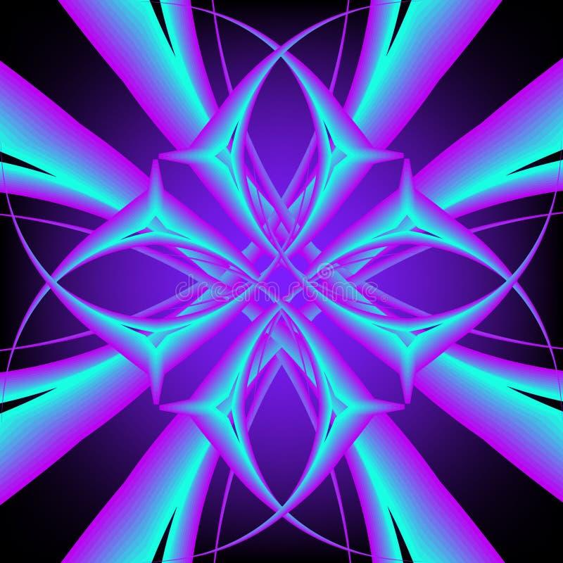 Symmetrisches Neonmuster vektor abbildung