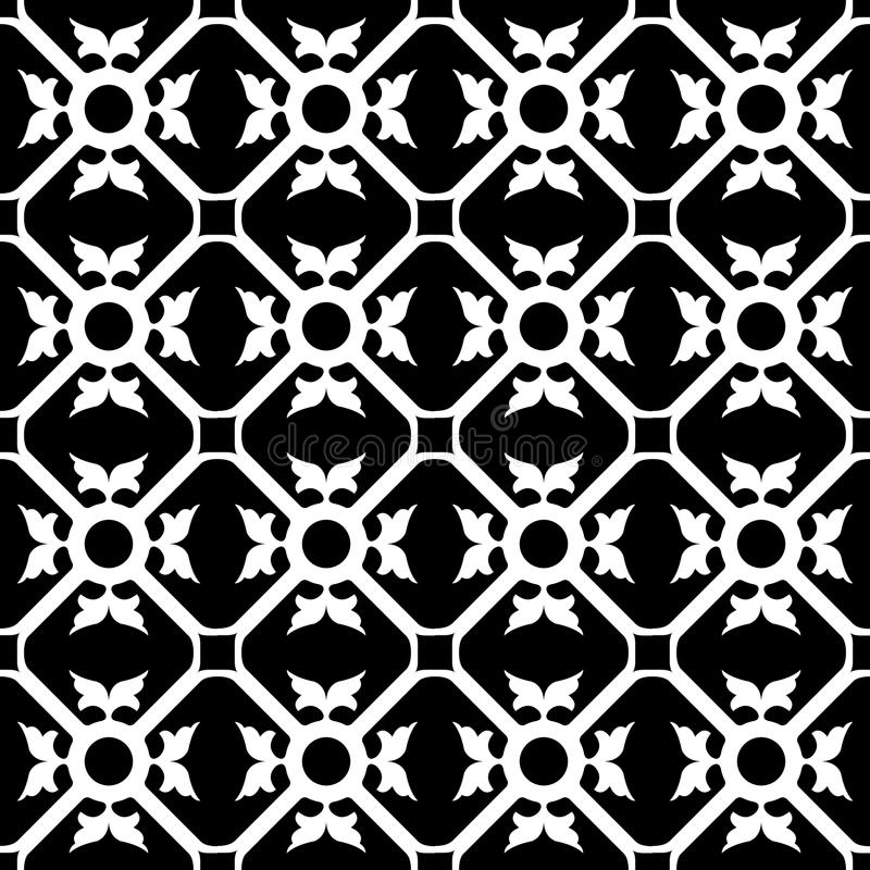 symmetrisk blommamodell royaltyfri illustrationer