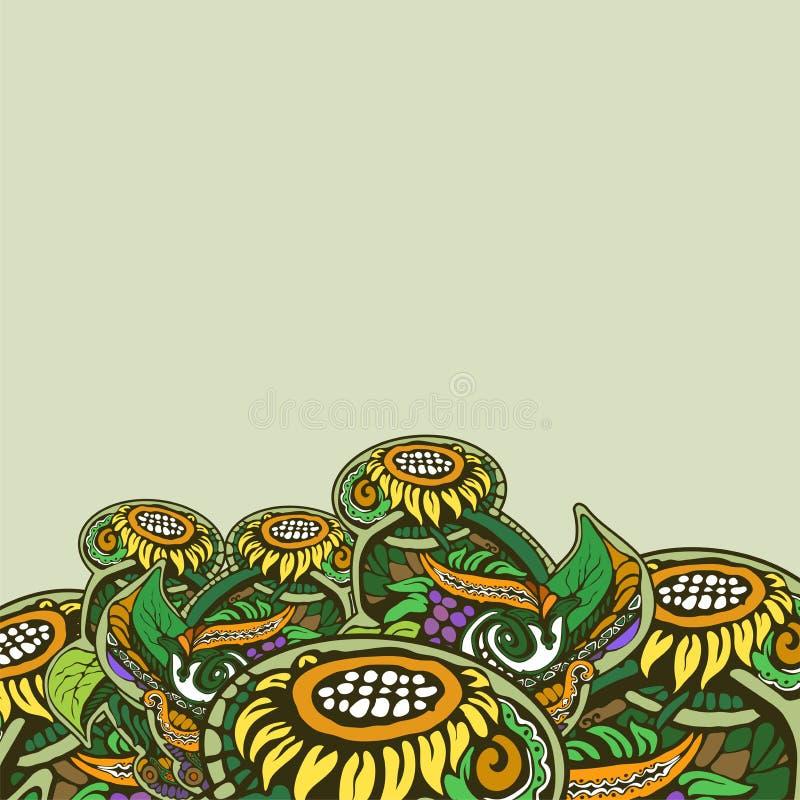 Symmetrisk dekorativ naturlig bakgrund av varma färger arkivfoton