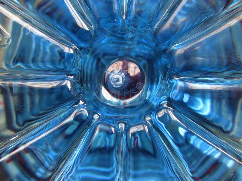 Symmetrisk form abstrakt bakgrundsblue futuristic bakgrund fotografering för bildbyråer