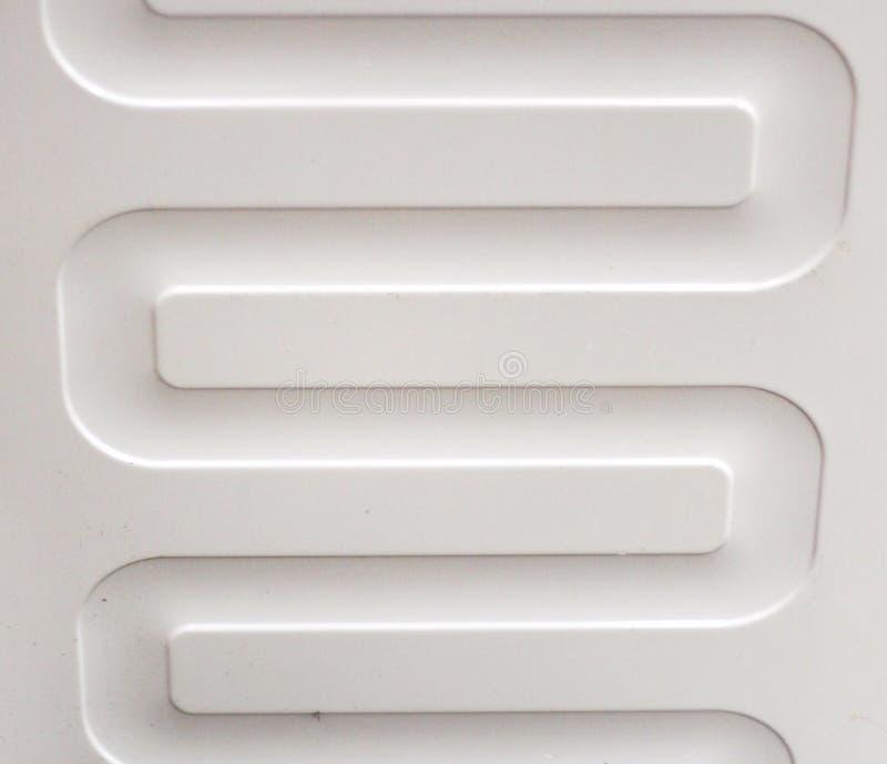 Symmetrisk futuristisk bakgrund 3D av vit färg arkivbilder