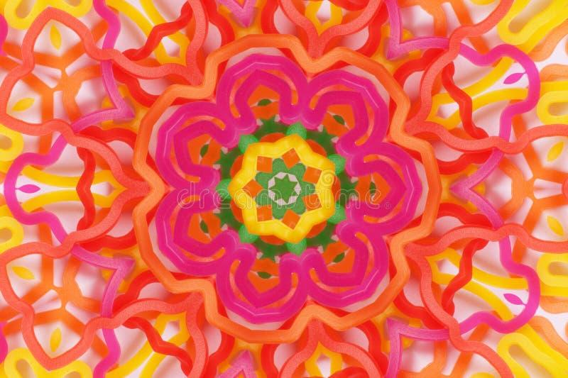 Symmetrisk spegelbild av några färgrika gummiband vektor illustrationer